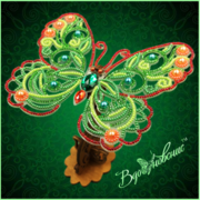 """Набор для вышивания бисером Вдохновение """"Ажурная бабочка 085"""""""