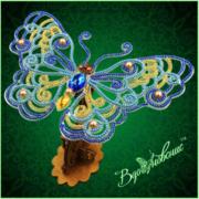 """Набор для вышивания бисером Вдохновение """"Ажурная бабочка 086"""""""