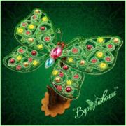 """Набор для вышивания бисером Вдохновение """"Ажурная бабочка 087"""""""