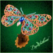 """Набор для вышивания бисером Вдохновение """"Ажурная бабочка 088"""""""