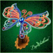 """Набор для вышивания бисером Вдохновение """"Ажурная бабочка 089"""""""