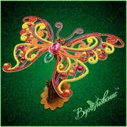 """Набор для вышивания бисером Вдохновение """"Ажурная бабочка 090"""""""