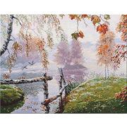 """Набор для вышивания крестом Овен """"Уж небо осенью дышало"""""""