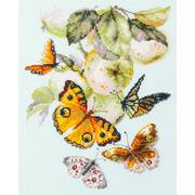 """Набор для вышивания крестом Чудесная игла """"Бабочки на яблоне"""""""