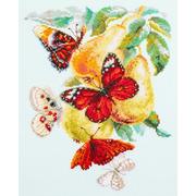 """Набор для вышивания крестом Чудесная игла """"Бабочки на груше"""""""