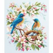"""Набор для вышивания крестом Чудесная игла """"Весенняя птица"""""""