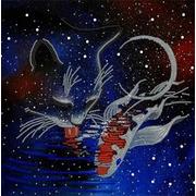 """Канва/ткань с нанесенным рисунком Конёк """"Космическая фантазия"""""""