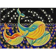 "Ткань с рисунком для вышивки бисером Конёк ""Три кита"""