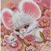 "Канва/ткань с нанесенным рисунком Конёк ""Мышки-норушки"""