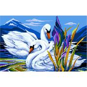 """Набор для вышивания крестом Nitex """"Лебеди на озере"""""""