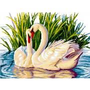 """Набор для вышивания крестом Nitex """"Лебеди в пруду"""""""