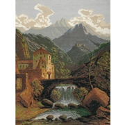 """Набор для вышивания крестом Nitex """"Замок в горах"""""""