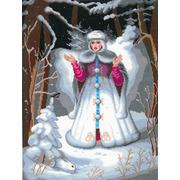 """Набор для вышивания крестом Nitex """"Снегурочка"""""""