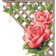 """Набор для вышивания крестом Nitex """"Ветвистая красная роза"""""""