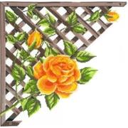 """Набор для вышивания крестом Nitex """"Ветвистая желтая роза"""""""