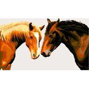 """Набор для вышивания крестом Nitex """"Два коня"""""""