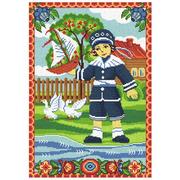 """Набор для вышивания крестом Nitex """"Мальчик с корабликом"""""""