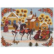 """Набор для вышивания крестом Nitex """"Городецкая зима"""""""