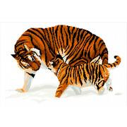 """Набор для вышивания крестом Nitex """"Тигры"""""""