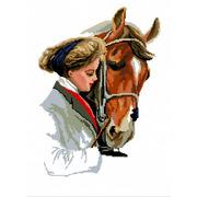 """Набор для вышивания крестом Nitex """"Дама и лошадь"""""""
