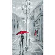 """Набор для вышивания крестом Nitex """"Прогулка под дождем"""""""