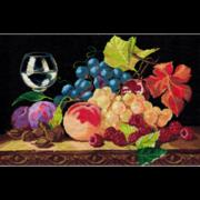 """Набор для вышивания крестом Nitex """"Натюрморт с виноградом"""""""