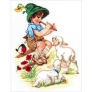 """Набор для вышивания крестом Nitex """"Пастушок"""""""