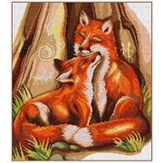 """Набор для вышивания крестом Nitex """"Огненные лисы"""""""