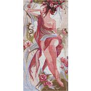"""Набор для вышивания крестом Nitex """"Девушка Роза"""""""