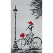 """Набор для вышивания крестом Nitex """"Прогулка на велосипеде"""""""