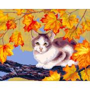 """Набор для вышивания крестом Nitex """"Котенок в листве"""""""