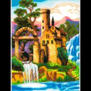 """Набор для вышивания крестом Nitex """"Замок у водопада"""""""