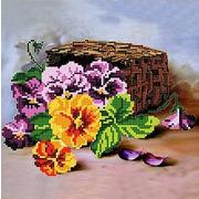 """Канва/ткань с нанесенным рисунком Божья коровка """"Букет"""""""