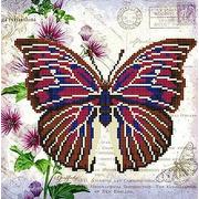 """Ткань с рисунком для вышивки бисером Конёк """"Бабочка 9"""""""