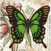 """Ткань с рисунком для вышивки бисером Божья коровка """"Бабочка 8"""""""
