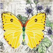 """Ткань с рисунком для вышивки бисером Божья коровка """"Бабочка 6"""""""