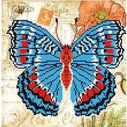 """Ткань с рисунком для вышивки бисером Божья коровка """"Бабочка 2"""""""