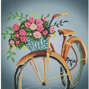 """Канва/ткань с нанесенным рисунком Божья коровка """"Цветы в корзине"""""""