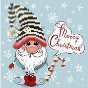 """Канва/ткань с нанесенным рисунком Божья коровка """"С Рождеством"""""""