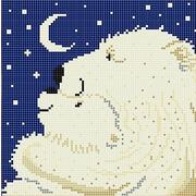 """Канва/ткань с нанесенным рисунком Божья коровка """"Большая медведица"""""""