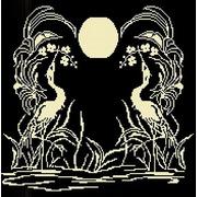 "Канва/ткань с нанесенным рисунком Божья коровка ""Закат 2"""
