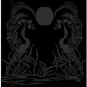 """Ткань с рисунком для вышивки бисером Божья коровка """"Закат"""""""