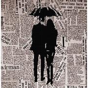"""Ткань с рисунком для вышивки бисером Божья коровка """"Под зонтом"""""""