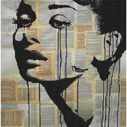 """Канва/ткань с нанесенным рисунком Божья коровка """"Одри Хепберн"""""""