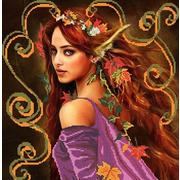 """Канва/ткань с нанесенным рисунком Божья коровка """"Осень"""""""