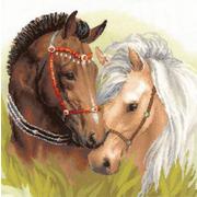 """Набор для вышивания крестом Риолис """"Пара лошадей"""""""