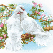 """Набор для вышивания крестом Риолис """"Белые голуби"""""""