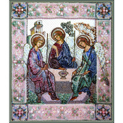 """Набор для вышивания бисером Образа в каменьях """"Святая Троица"""""""