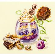 """Набор для вышивания крестом Чудесная игла """"Шоколадный десерт"""""""