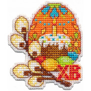 """Набор для вышивания крестом Овен """"Магнит. Пасхальное яйцо"""""""